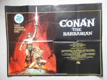 Conan the Barbarian, Original UK Quad Film Poster, Arnold Schwarzenegger, '82
